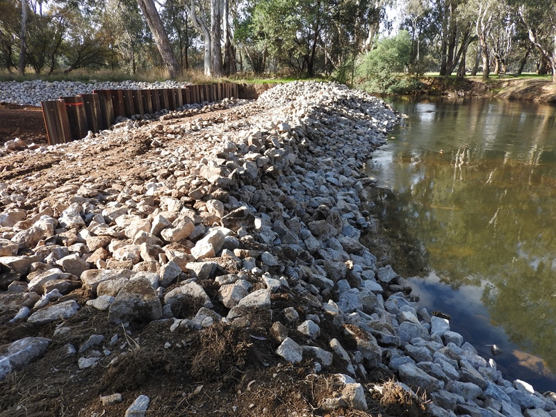 Flood recovery works at Markwood
