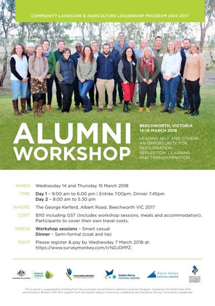 Community Landcare & Agriculture Leadership Program alumni workshop