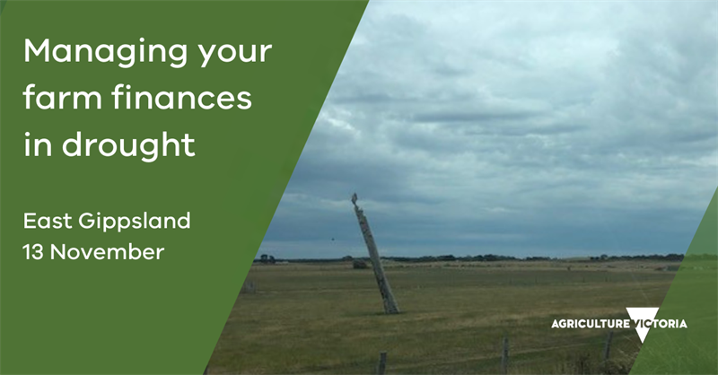 Managing Your Farm Finances in Drought Workshop