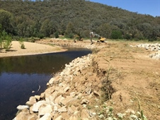 River Bank Stability Project Underway at Ovens