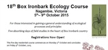 TWO SPONSORED places available for the Box-Ironbark Ecology Course